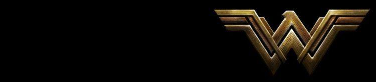 Gold Wonder Woman logo on a black background
