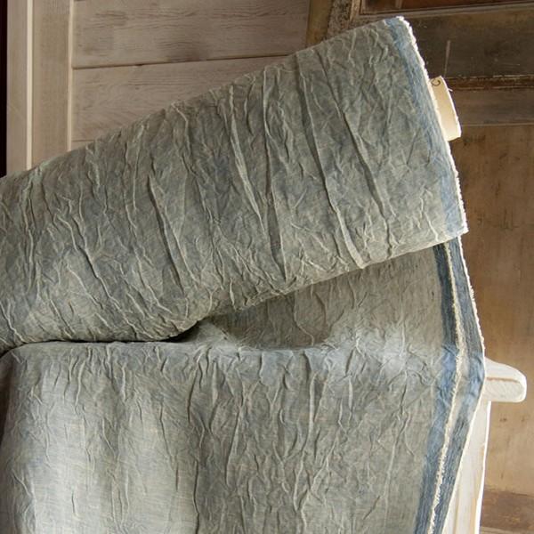 Tessuto per tende in lino stropicciato  CASSERI BIANCHERIA