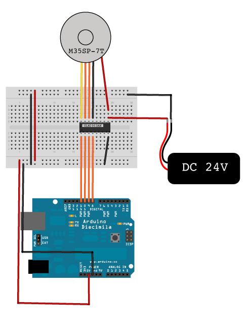 Arduino Stepper Motor Circuit On Arduino Stepper Motor Wiring Board