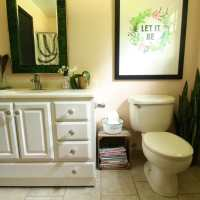 My Pale Pink Bathroom Reveal and a $100 Ace Hardware Giveaway!