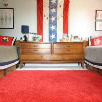 Red, White, and Blue Boy's Bedroom