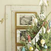 Our Fringed & Beaded Christmas Tree