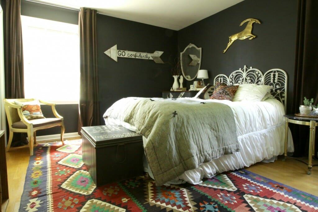 Bohemian Black Bedroom