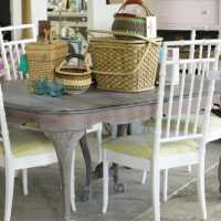 No Prep Painted Faux Bamboo Chairs with Amy Howard One Step Paint