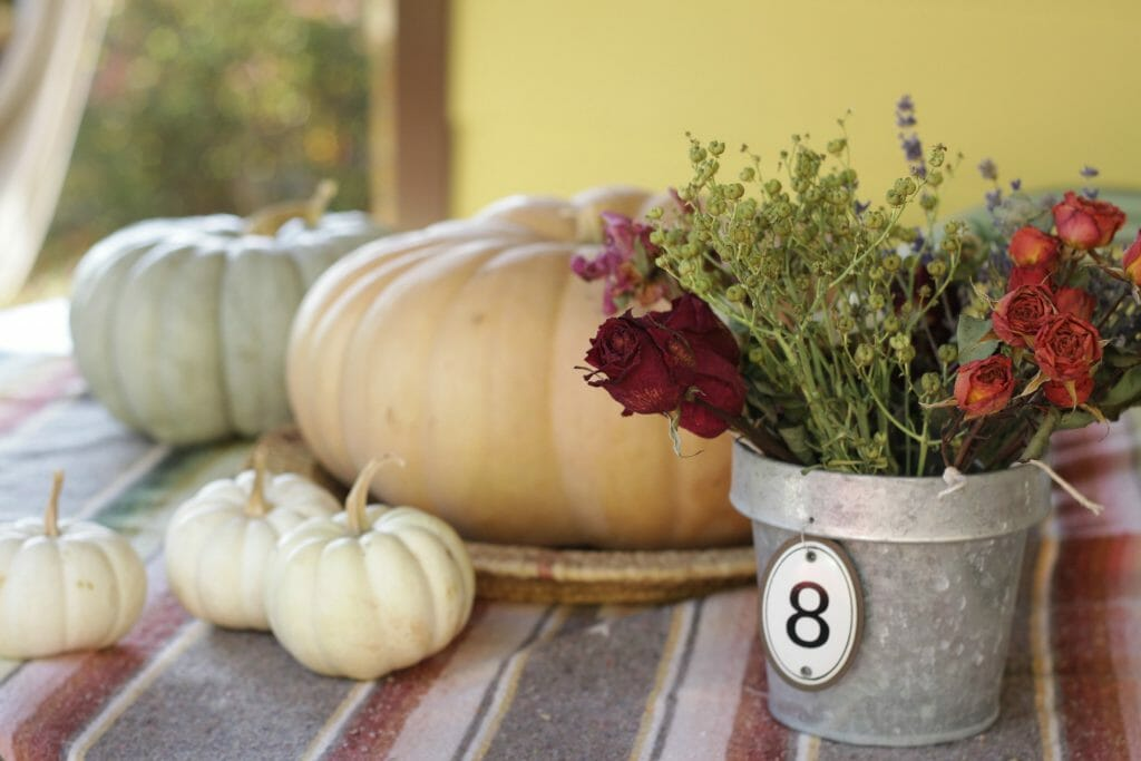 Floral Pumpkin Centerpiece Supplies