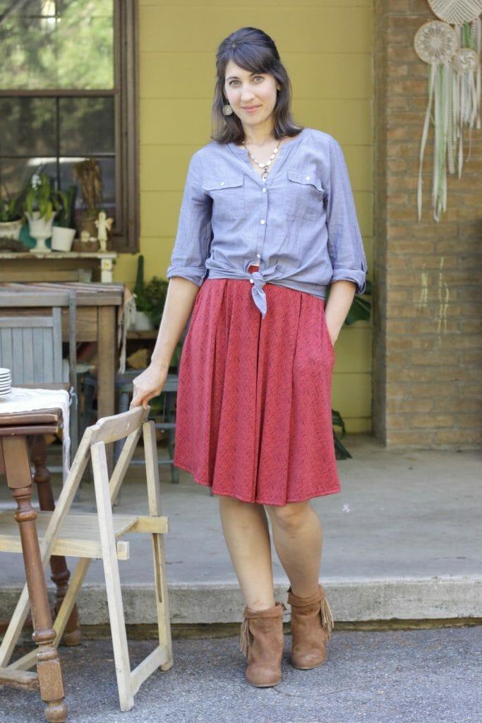 LulaRoe Madison Skirt Fall Outfit