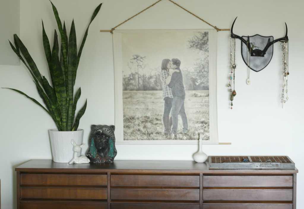 midcentury-modern-boho-wood-dresser-styling