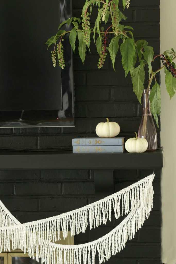 pokeberries-as-mantle-decor-fall-fringe-white-pumpkins