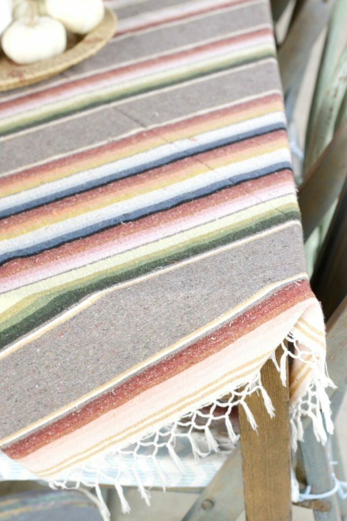 Serape as Table Runner