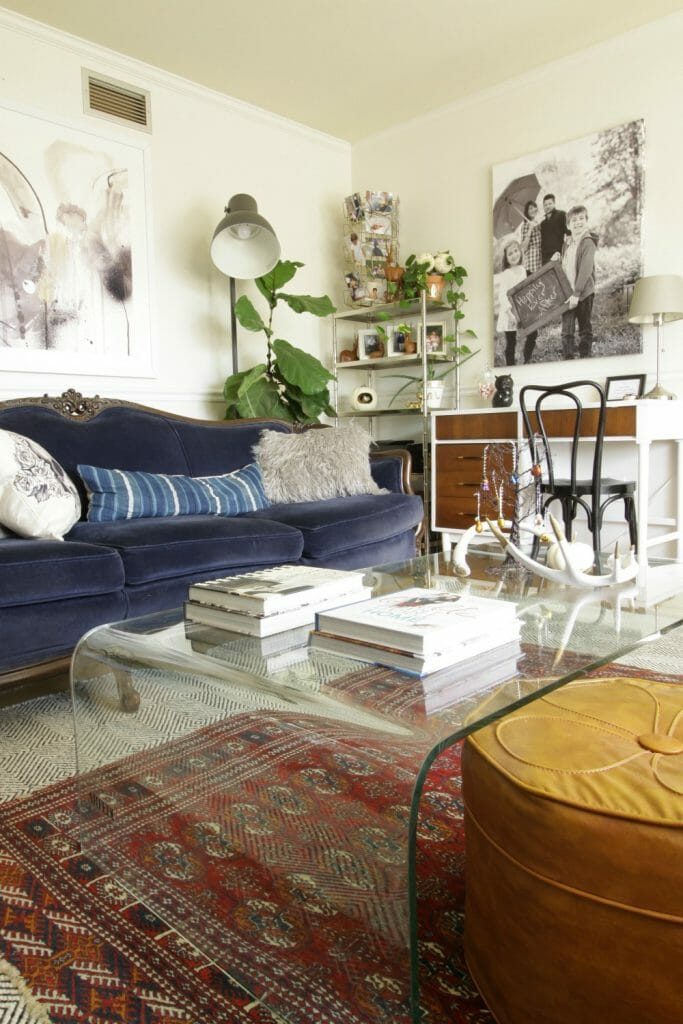 Eclectic Midcentury Mixed Living Room