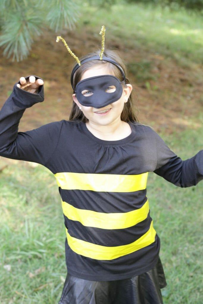 DIY Kids Bumblebee Costume Using Duck Tape