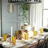 Bohemian Rustic Vintage Fall Tablescape