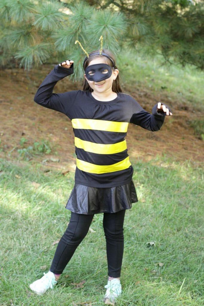 Easy Kids Bee Halloween Costume
