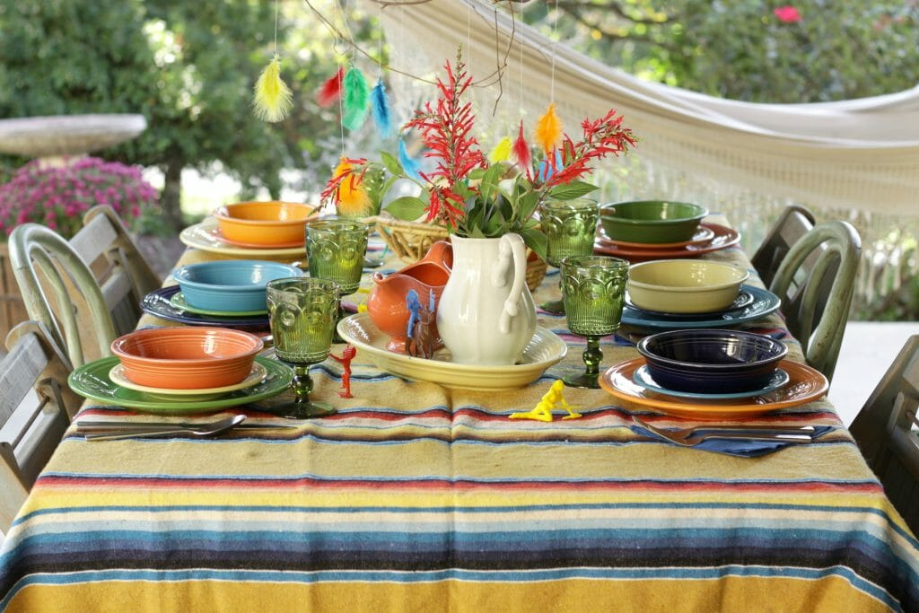 Kids Colorful Thanksgiving Table