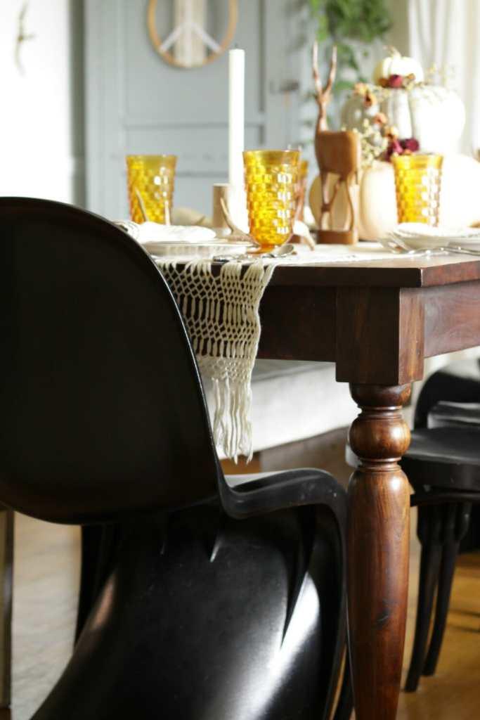 Vintage Macrame Table Runner