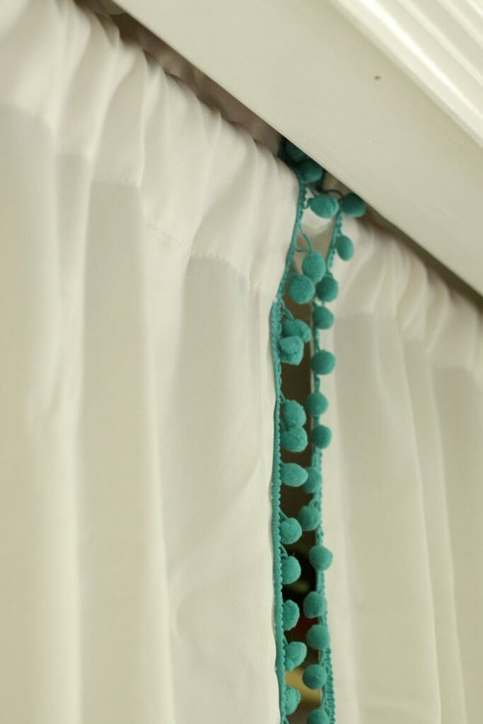 Pom Pom Trim on Curtains