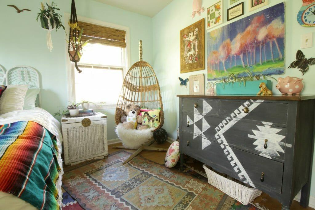Elegant Boho Eclectic Vintage Girls Room