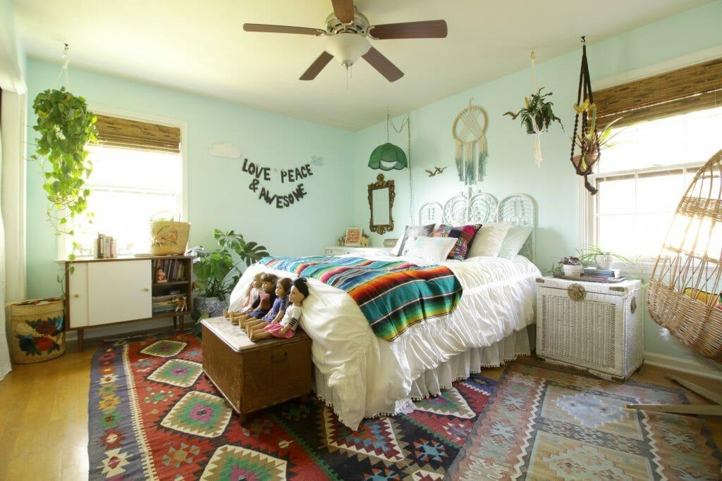 Global Boho Girls Bedroom