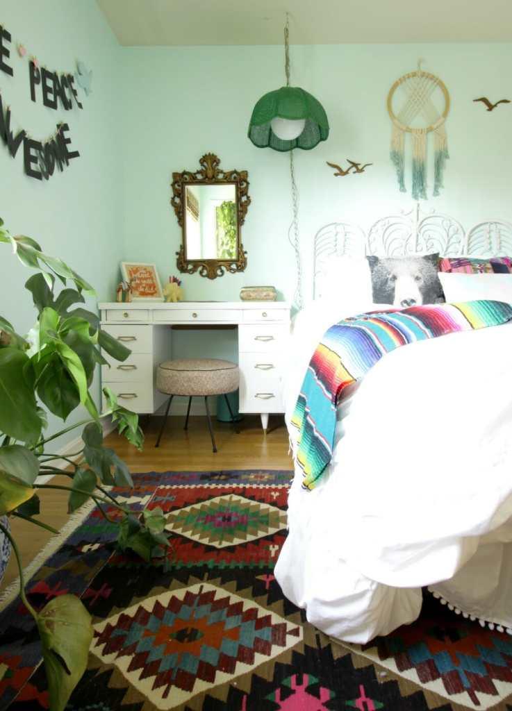 Midcentury Desk- Eclectic Girls Room