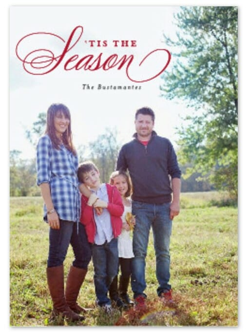 Classic Christmas Card with Minted