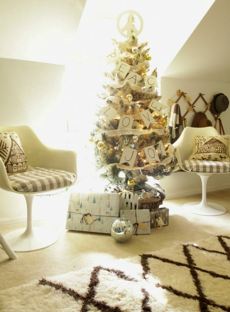Christmas Seating Area in Bedroom