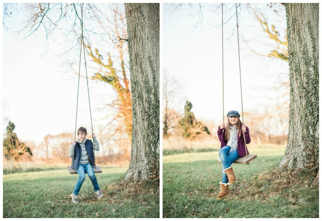 Family Photos- Kids on Swings