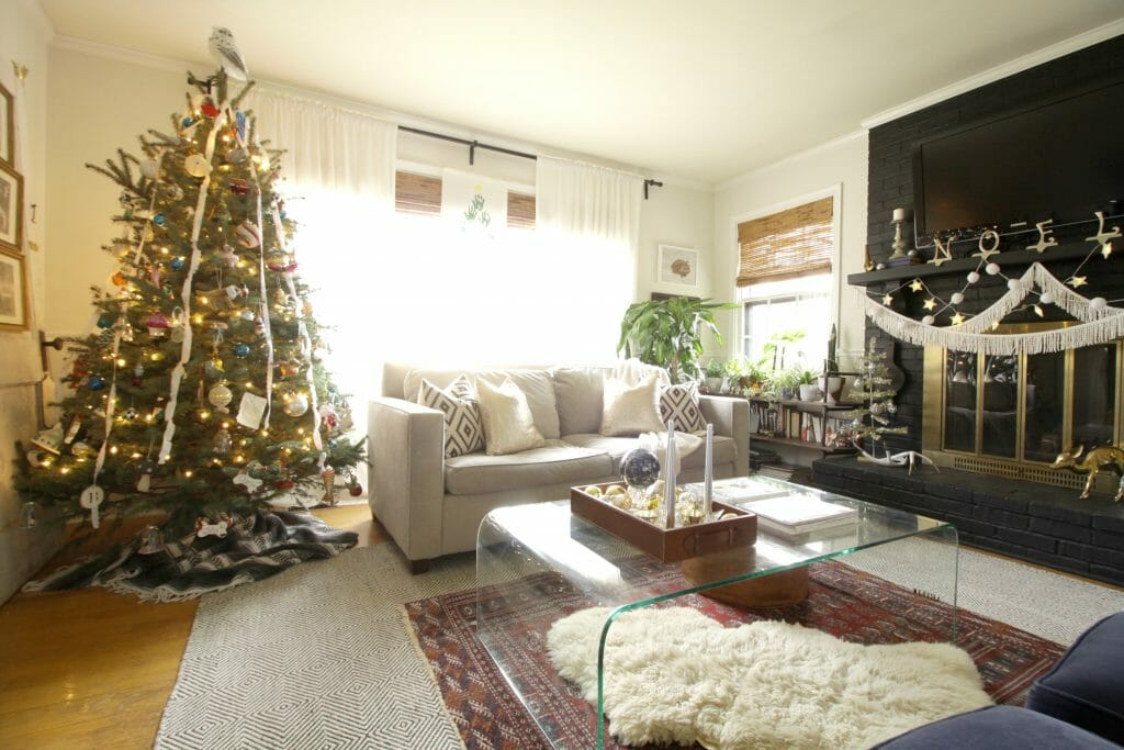 Living Room Christmas Decor- Family Style Tree