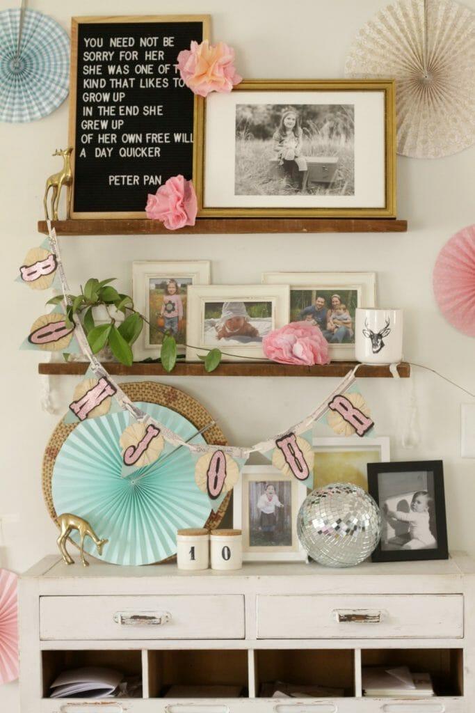 Tween Girl Birthday Photo Display