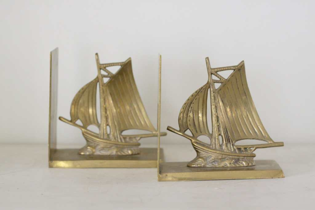 Cassie Bustamante Etsy- Brass Boat Bookends