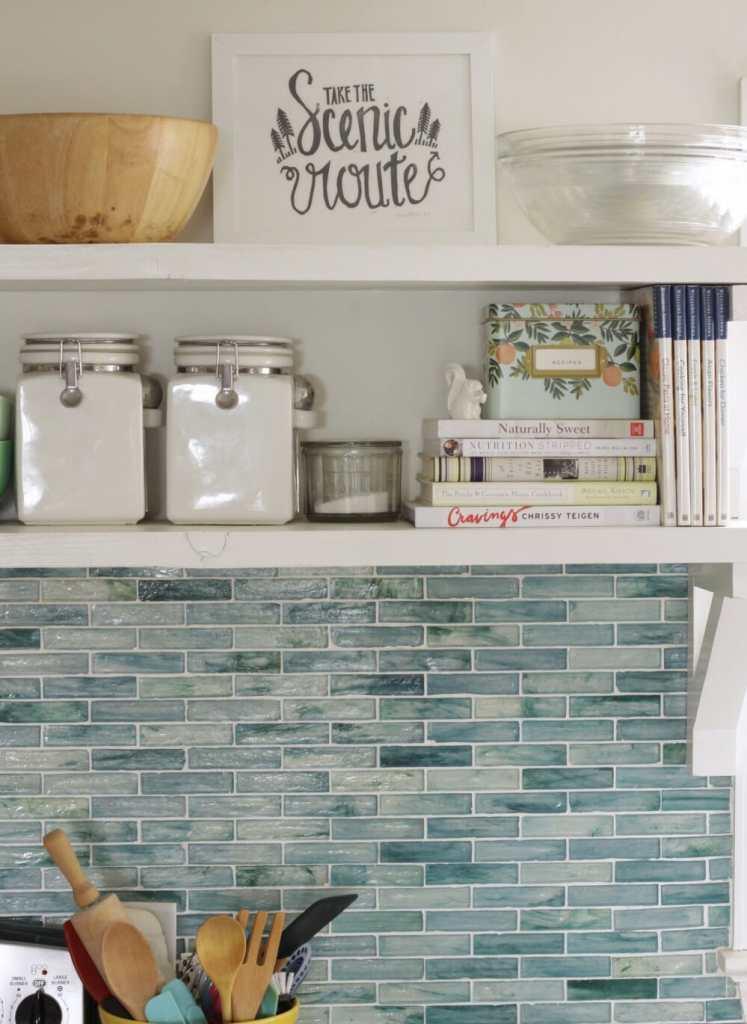 Utilitarian Kitchen Shelves- Open Shelving Organization
