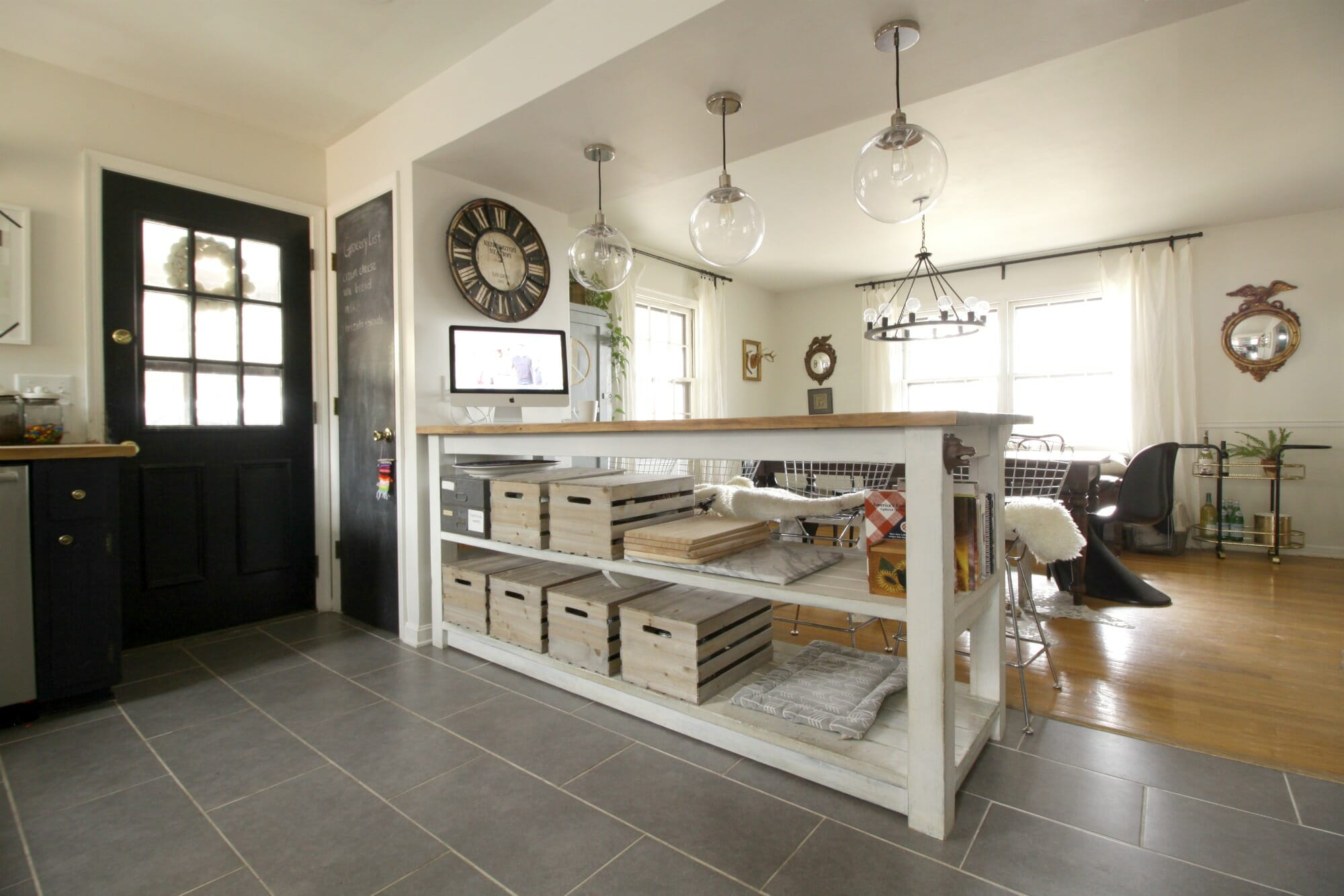 industrial kitchen island bronze appliances with storage from crates