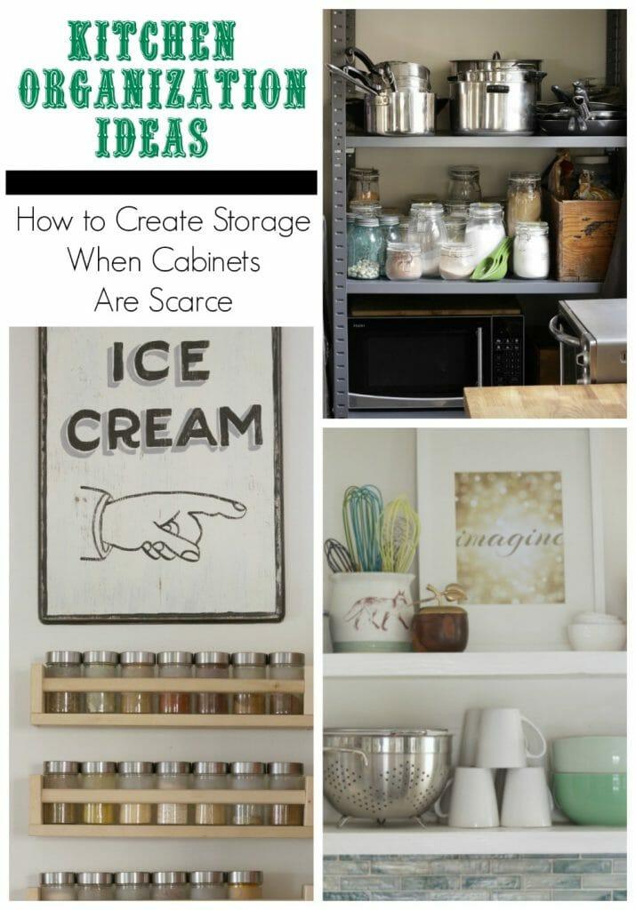 Unique Kitchen Storage Ideas when You don't have cabinets