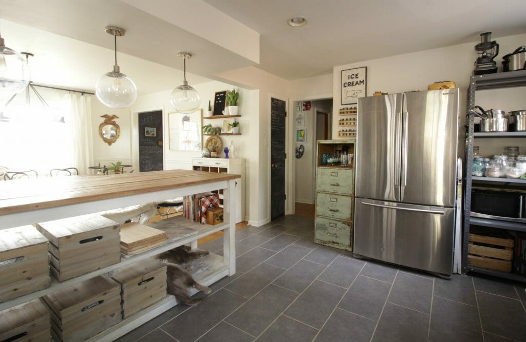 Eclectic Kitchen with Awesome Huge Island