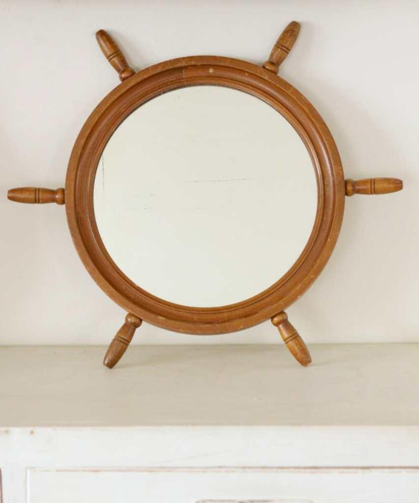 Cassie Bustamante Etsy Ship Wheel Mirror