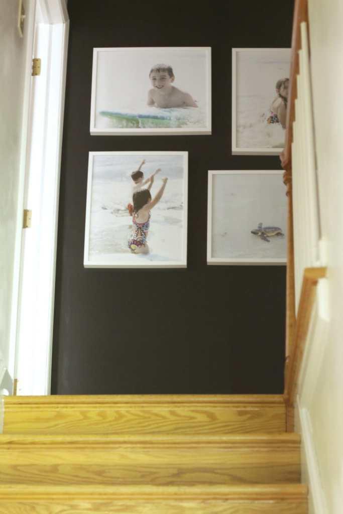 Black Hallway Wall