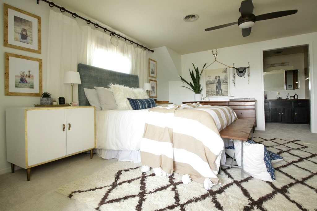 Carpeted Vanity off Bedroom