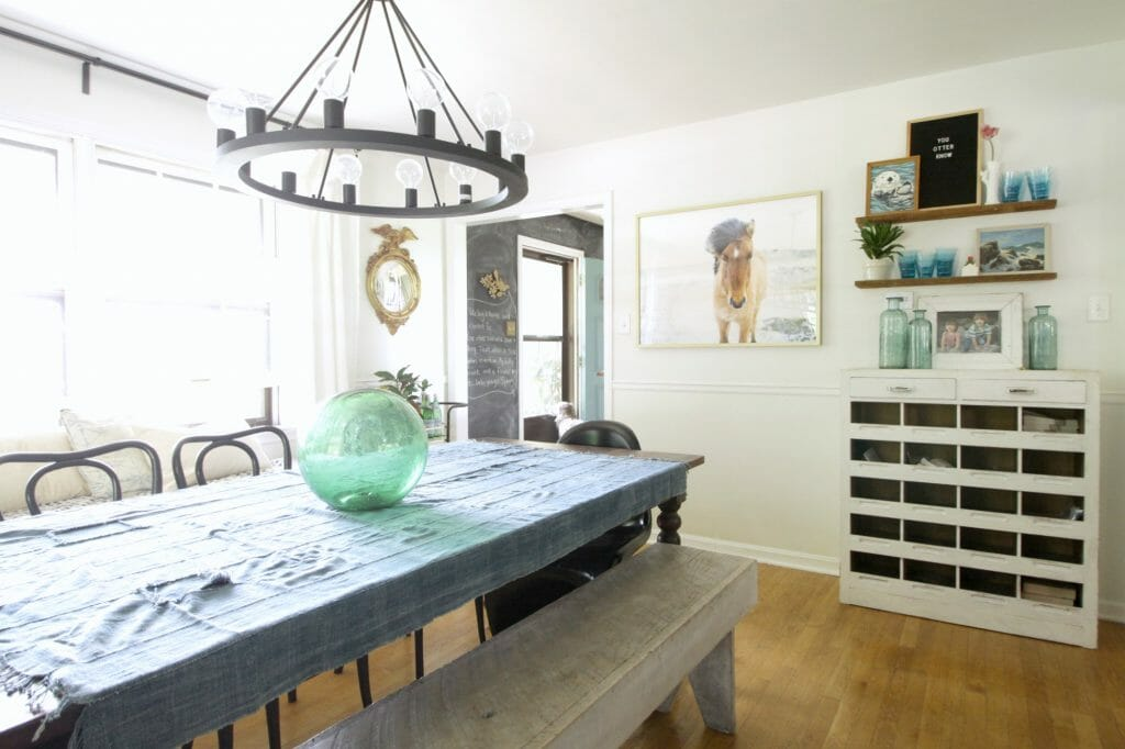 Eclectic Modern Farmhouse Summer Dining Room