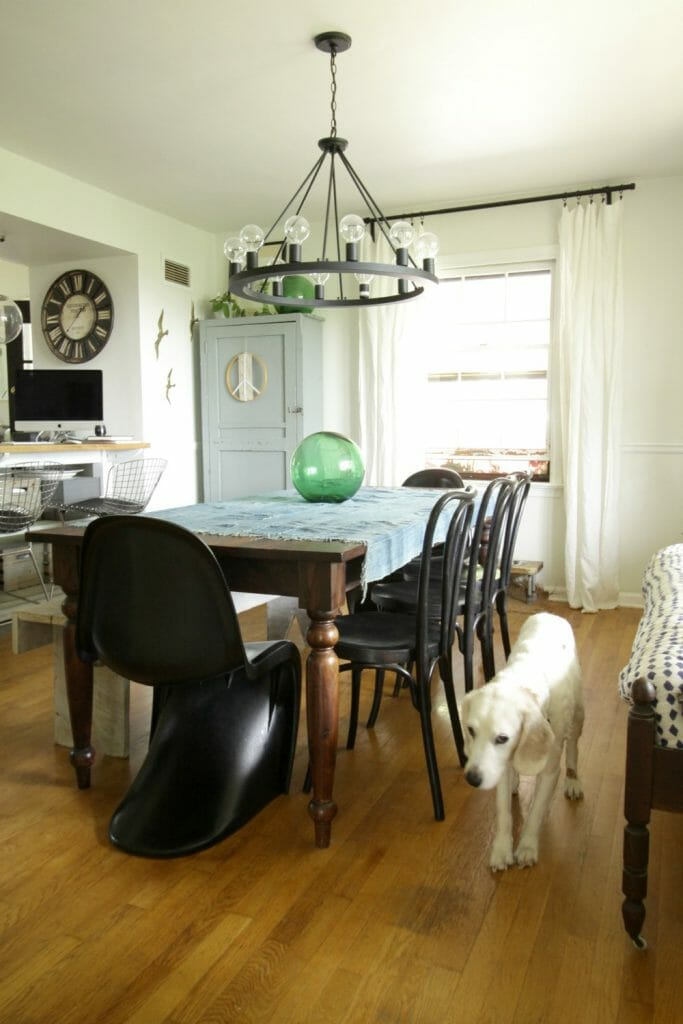 Eclectic Modern Farmhouse Dining Room