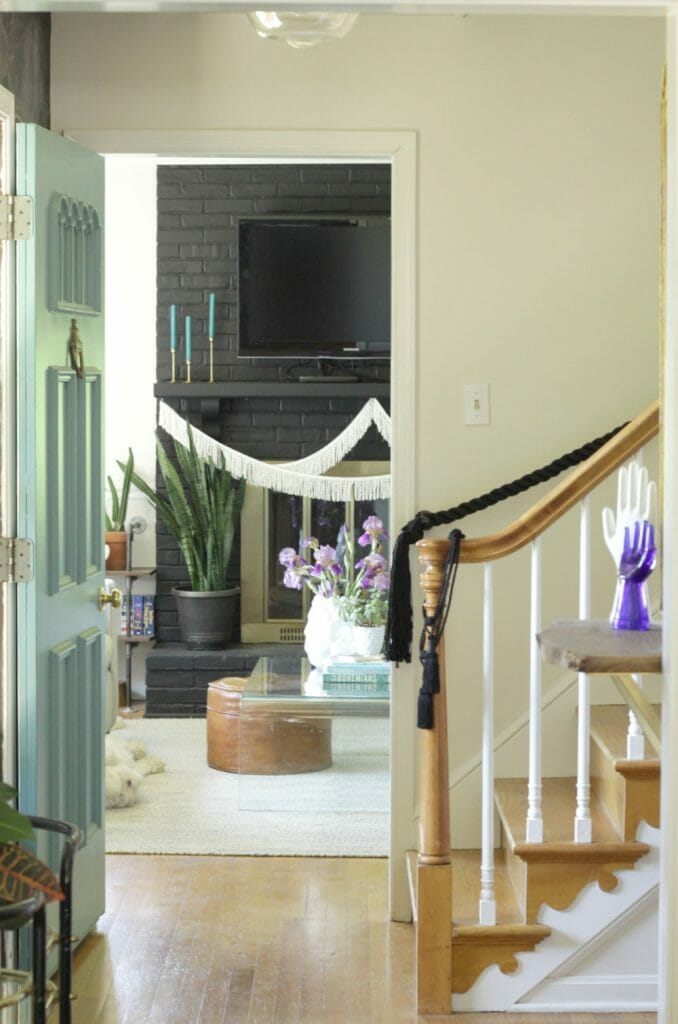 painted Stair Trim and Spindles