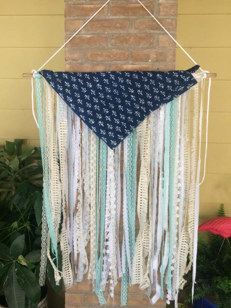 Triangle Lace Boho Wall Hanging
