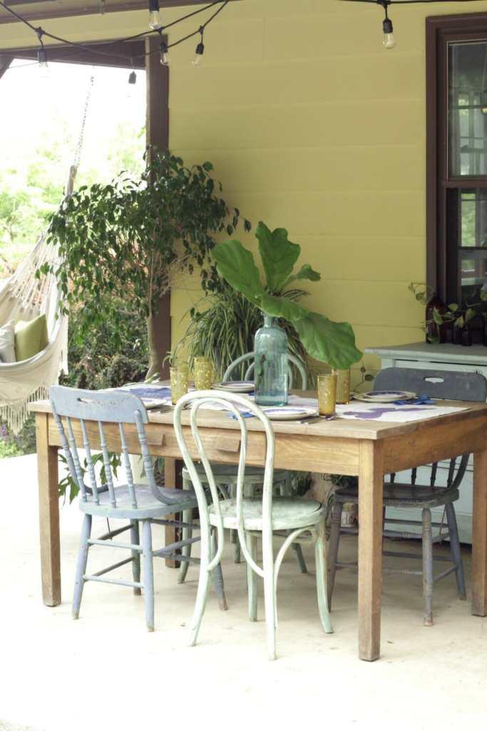 Summer Patio Dining Area