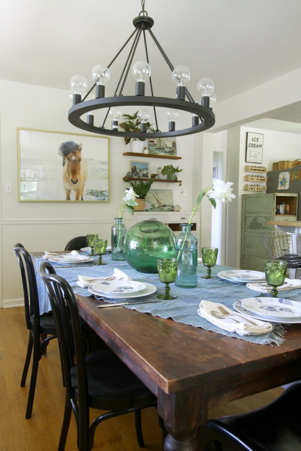 Eclectic Summer Kitchen And Dining Room Tour Cassie