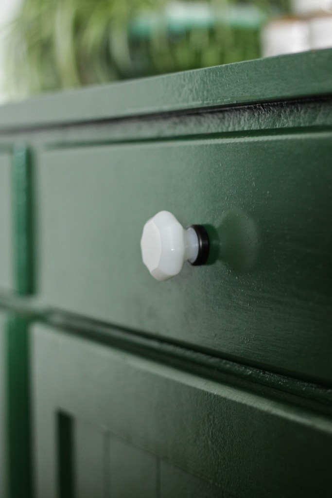 Faceted Milk Glass Knobs from D. Lawless Hardware