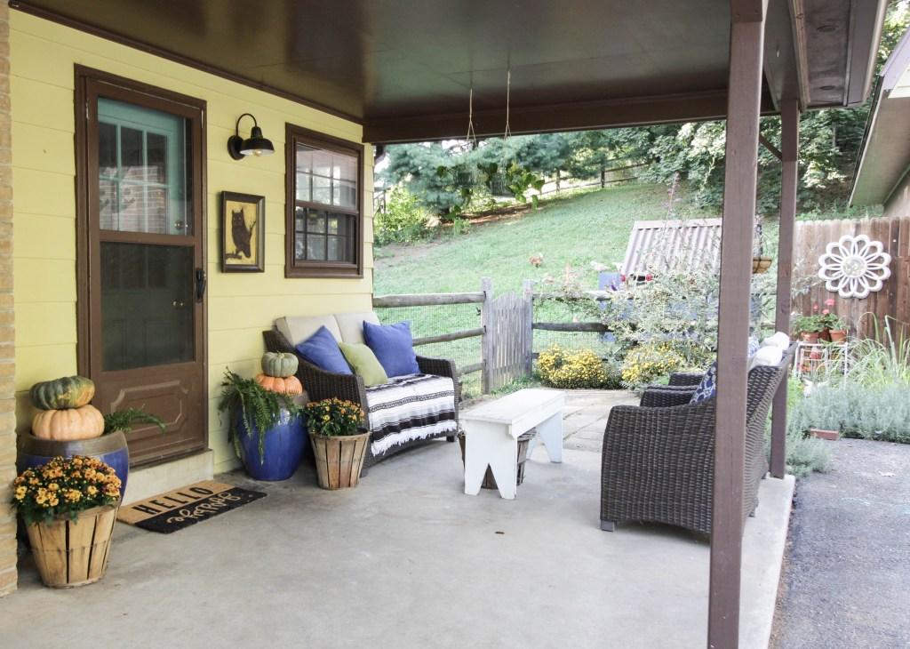 Bohemian Eclectic Farmhouse Fall Porch