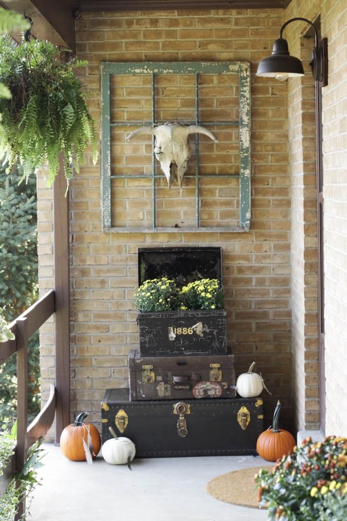 Bohemian Farmhouse Style Fall Porch
