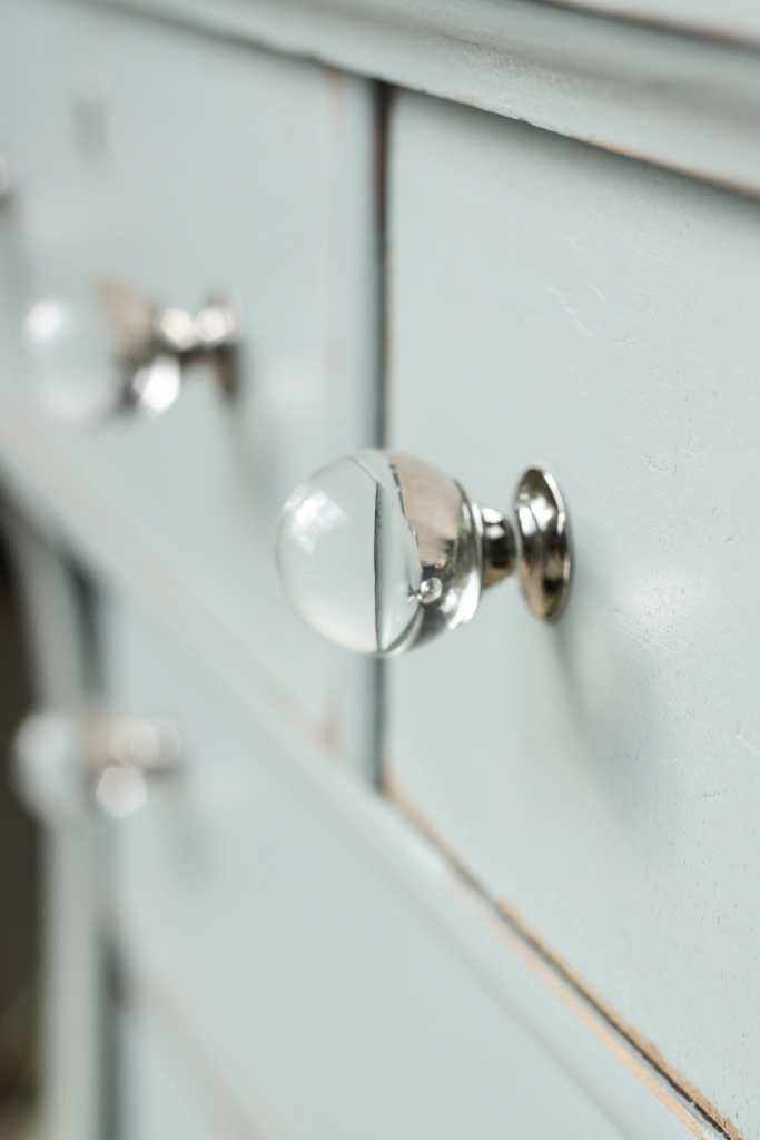 Spherical Glass Knobs from D. Lawless Hardware