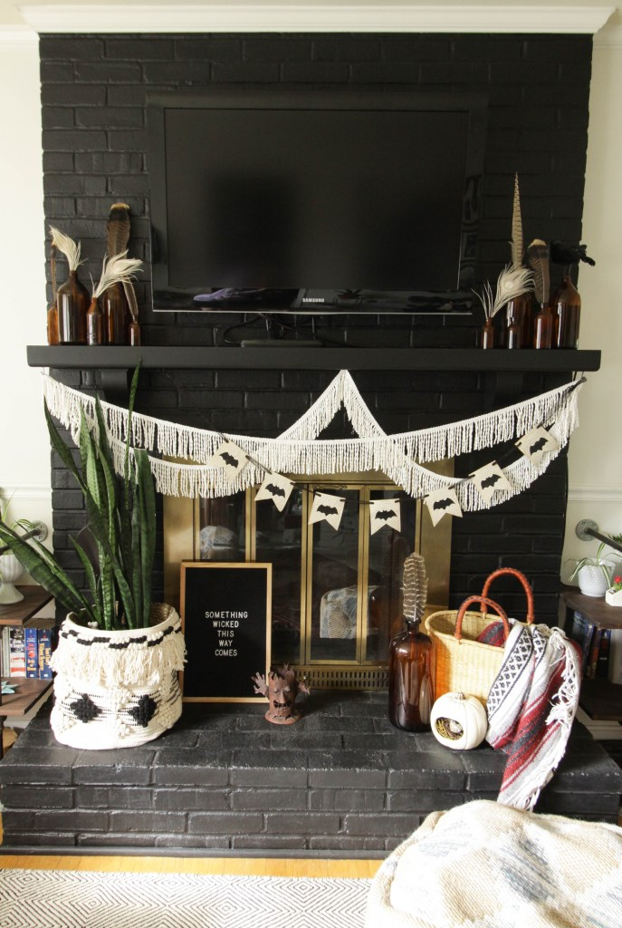 Eclectic Halloween mantle