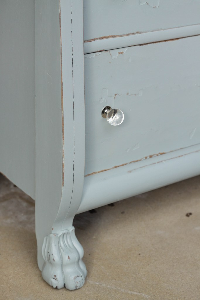 Gorgeous Claw foot Dresser Makeover