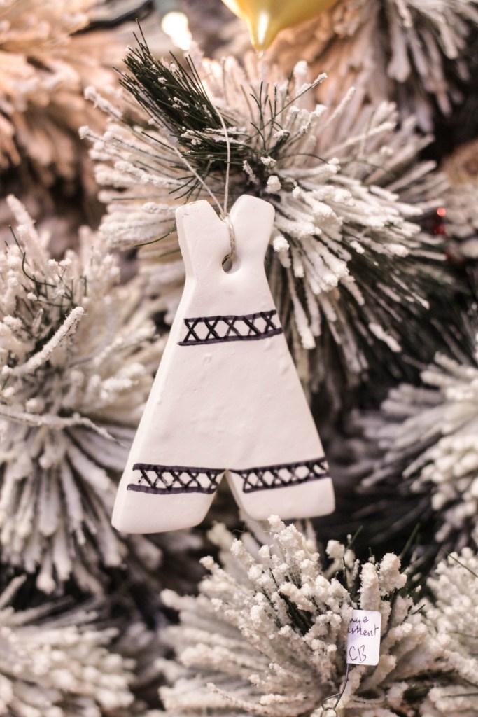 DIY Clay Boho Teepee Ornament