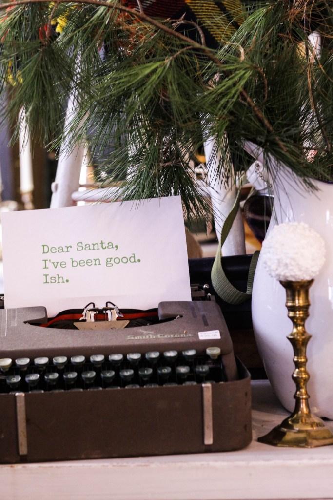 Dear Santa, I've been Good.  Ish.  - Humorous Christmas Decor